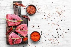 Необработанные мяса говядины Стоковые фото Стоковая фотография