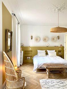Bedroom Nook, Home Bedroom, Bedroom Decor, Room Inspiration, Interior Inspiration, Parents Room, Bedroom Orange, Zen Room, Home Staging