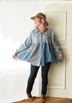 babydoll top size large XL 1X layered look lagenlook