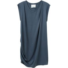 3.1 Phillip Lim Asymmetrical Draped Dress ($188) ❤ liked on Polyvore