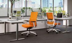 SitOnIt Seating Novo highback task office chair, tangerine mesh