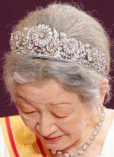 Tiara Mania: Imperial Chrysanthemum Tiara worn by Empress Michiko of Japan