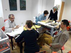 in the Galerie Offenes Atelier D.Design in A. Vienna Austria, Workshop, Calligraphy, Design, Atelier, Villach, Lettering, Work Shop Garage