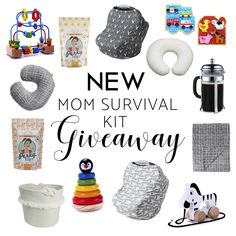 "Join the ""New Mom Survival Kit"" giveaway contest and win some great essentials for new moms!  Free to enter!"