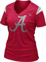 Alabama Crimson Tide Women's Crimson Nike Football Replica T-Shirt