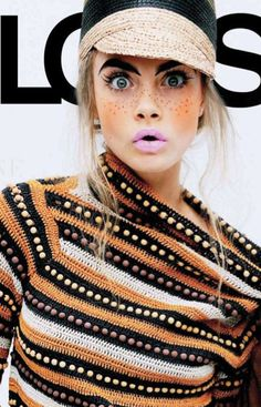 Love the jumper. I wonder who is it by? youare-different: Cara Delevigne, Jalouse mag