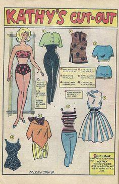 1962 Kathy paper doll / eBay
