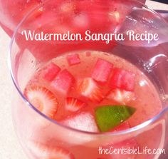 Watermelon Summer Sangria Recipe Should try for Friday @Kelley Simpson & @Katie Schmeltzer boyer