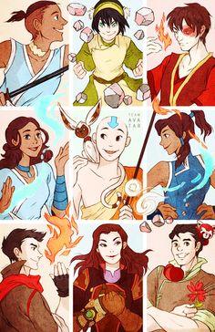 "Team Avatar 11 x 17"" glossy print"