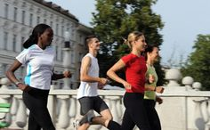 Man Running with Women