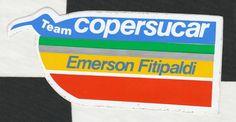 TEAM COPERSUCAR F1 EMERSON FITIPALDI ORIGINAL PERIOD STICKER ADESIVO AUFKLIEBER