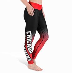 I really like these... Chicago Blackhawks Women's NHL Gradient Leggings Yoga Pants Forever Collectibles