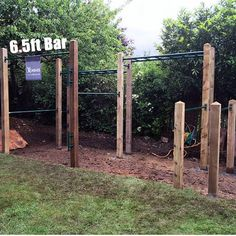 backyard pull up bar/ ring set could add a 15' rope climb