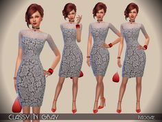 The Sims Resource: Classy in Gray by Paogae • Sims 4 Downloads