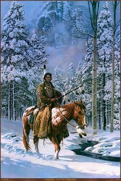 Chuck Ren Man Who Walks Alone HD Print Oil Painting Wall painting Wall Art Picture For Living Room painting no frame Native American Horses, Native American Warrior, Native American Paintings, Native American Pictures, Native American Beauty, American Indian Art, Native American History, Indian Paintings, American Indians