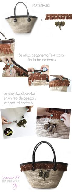 DIY...CAPAZO ESTILO AFRICANO  DIY...BEACH BAG