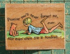 vintage 1990 Winnie the Pooh Promise Me wood by SaltysPirateDen