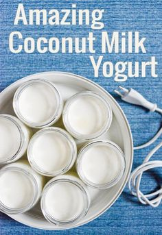 Coconut Milk Yogurt. Delicious non-dairy yogurt for breakfast bowls and parfaits!