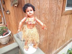 Lovely Antique Black Brown Ethnic Hawaiian Simon Halbig Doll All Original | eBay