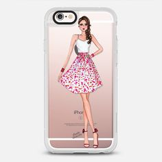 Spring Air - chic fashion illustration protective iPhone 6 phone case in Clear and Clear by Moda Illustrated #fashionista #phonecase | @casetify