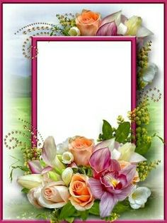 Frames For Flowers Banner Background Images, Frame Background, Beautiful Nature Pictures, Beautiful Flowers, Love Heart Images, Page Borders Design, Photo Layers, Country Garden Weddings, Frame Template