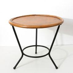 table basse ronde en rotin vintage rotin et osier marron bon tat