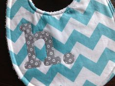 Personalized baby bib by lainabelle on Etsy