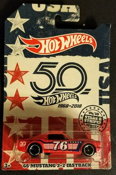 Hot Wheels 2018 Stars & Stripes Wal-Mart Exclusive '65 MUSTANG 2+2 FASTBACK