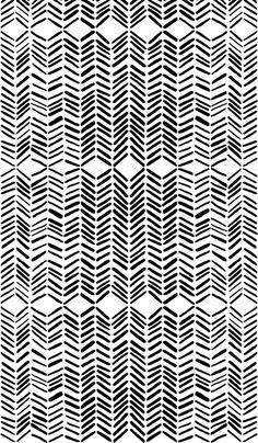 Marie Yates Black And White Fabric Chic Pattern