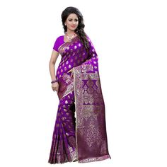 Craftsvilla Self Designed Banarasi Silk Saree