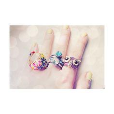 Ugghh want that owl ring! Girly Images, Unusual Rings, Cute Rings, Big Rings, Love Ring, Favim, Vintage Rings, Beautiful Rings, Girly Things