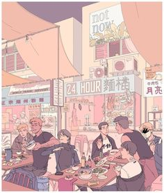 """""""night market"""" by F Choo  Print available at"""