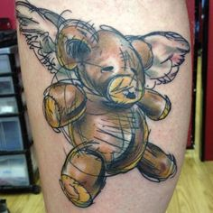 goodinkny: Teddy Bear Tattoo Artist: Lew Carve