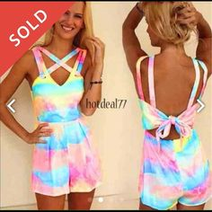 ✌️ AVAILABLE Tye Dye Romper ✌️ So cute I just don't like the for on me  Worn twice only ! Other