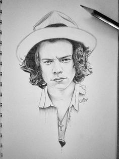 Happy birthday to the one and only Harry Styles! I think I'll always be (not-so-) secretly in love with this guy… hope you had a great one Harry Pencil drawing/illustration/sketch/portrait art by Shanita Lyn. Harry Styles Drawing, Harry Styles Smile, Harry Styles Funny, Harry Styles Imagines, One Direction Fan Art, One Direction Drawings, Portrait Sketches, Portrait Art, Drawing Portraits