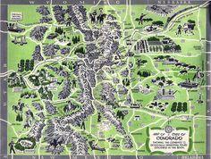 Map, Colorado Tourism Brochure, c. 1956 by StevenM_61, via Flickr