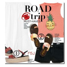 Summer Road Trip by beebeely-look on Polyvore featuring Elizabeth and James, Billabong, Frame Denim, Beats by Dr. Dre, summerstyle, roadtrip, summersandals and fsjshoes