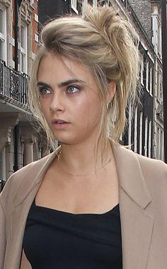 Cara Delevingne from Lazy Girl Hairstyles for August