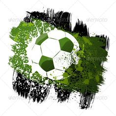 Buy Soccer by on GraphicRiver. Vector illustration of grunge style soccer ball. Ai, Eps, Psd, Jpeg and Transparent Png files. Soccer Tattoos, Soccer Motivation, Ai Illustrator, Grunge Fashion, Soccer Ball, Vector Design, Abstract, Stock Photos, Drawings