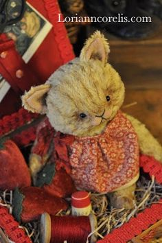 The Spotted Hare by Lori Ann Corelis Plush Animals, Felt Animals, Stuffed Animals, Christmas Teddy Bear, Kitten Love, Boyds Bears, Love Bear, Cute Teddy Bears, Little Kittens