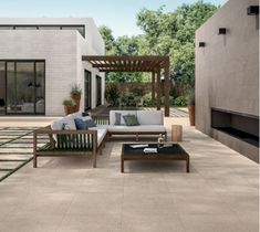 Our luxstone sand range certainly makes for a luxurious looking garden 😍 The beautiful light colour makes it perfect for creating a bright, summery outdoor space ⛅️!   #tiles #porcelain #design #DIY #home #garden #outdoor #flooring #homedecor #OutDoorInspo #BeautifulGardens Concrete Pavers, Beautiful Lights, Interior Exterior, Porcelain Tile, Light Colors, Beautiful Gardens, Stoneware, Balcony, Outdoor Spaces