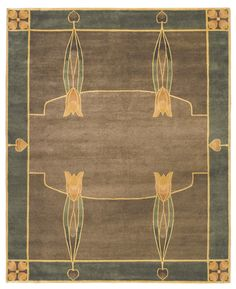 Monterey Grove rug - inspired by Dard Hunter's 1906 stained glass windows at the Roycroft Inn in East Aurora, NY