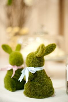 moss bunnies! Peakhurst, NSW Wedding from Nerida McMurray  Read more - http://www.stylemepretty.com/australia-weddings/2013/06/20/peakhurst-nsw-wedding-from-nerida-mcmurray/