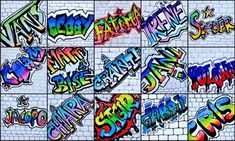 Name in Graffiti style Could do large scale on mural paper and display on walls . - Name in Graffiti style Could do large scale on mural paper and display on walls in hallway - Graffiti Art, Alphabet Graffiti, Graffiti Drawing, Graffiti Styles, Graffiti Lettering, Street Graffiti, Middle School Art Projects, Art School, Name Art Projects