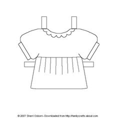 Paper Doll Accessories  Paper Doll Template Dolls And Doll