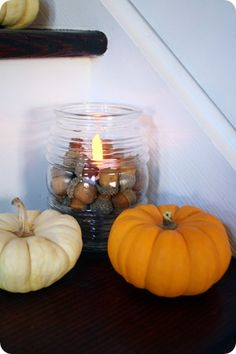 It's a cheapie $2 glass globe to cover those outside lights - I LOVE this idea!