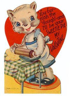Vintage baking theme Valentine.