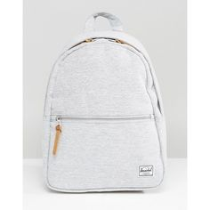 Herschel Supply Co. Town Mini Backpack (1.635 CZK) ❤ liked on Polyvore featuring bags, backpacks, grey, travel backpack, travel rucksack, shopping bag, travel bag and miniature backpack