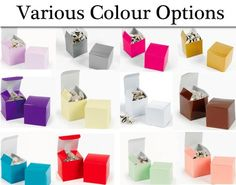 Choose a Colour 12 Mini Gift Boxes - 5cm Cube   the littlecraftybugs company