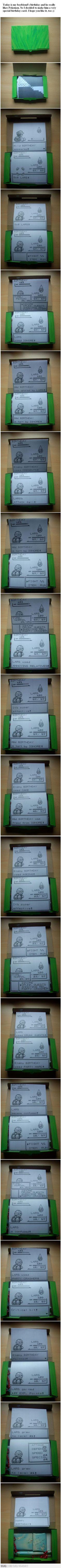 Super effective birthday card